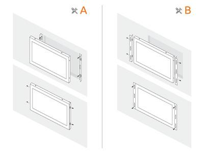 Monitor 15 pollici metallo