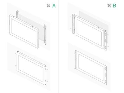 Touchscreen 7 pollici metallo